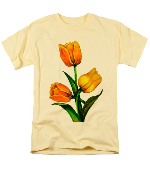 Tulips Men's T-Shirt  (Regular Fit) by Zina Stromberg