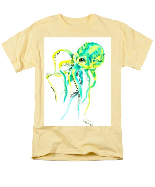 Turquoise Green Octopus Men's T-Shirt  (Regular Fit) by Suren Nersisyan