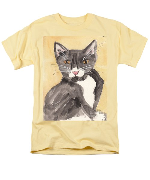 Tuxedo Cat With Attitude Men's T-Shirt  (Regular Fit) by Terry Taylor