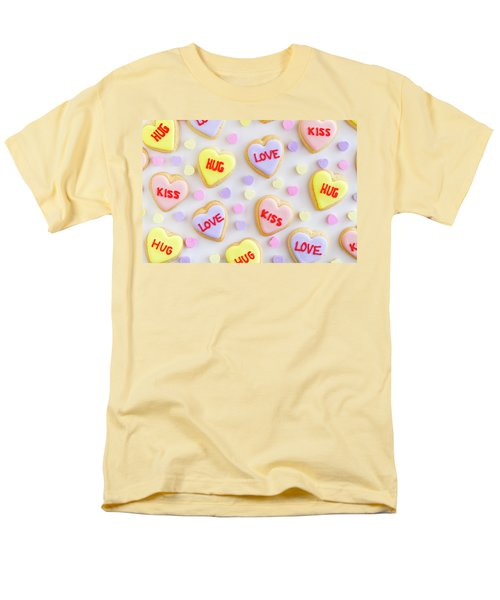 Men's T-Shirt  (Regular Fit) featuring the photograph Valentine Heart Cookies by Teri Virbickis