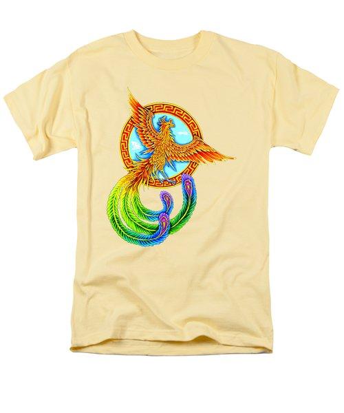 Vermilion Bird Men's T-Shirt  (Regular Fit) by Rebecca Wang