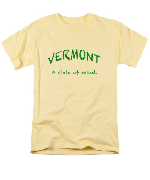 Vermont, A State Of Mind Men's T-Shirt  (Regular Fit) by George Robinson