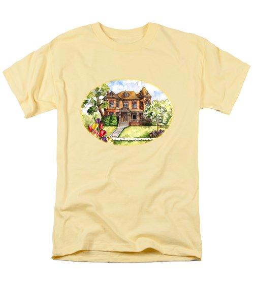 Victorian Mansion In The Spring Men's T-Shirt  (Regular Fit) by Shelley Wallace Ylst