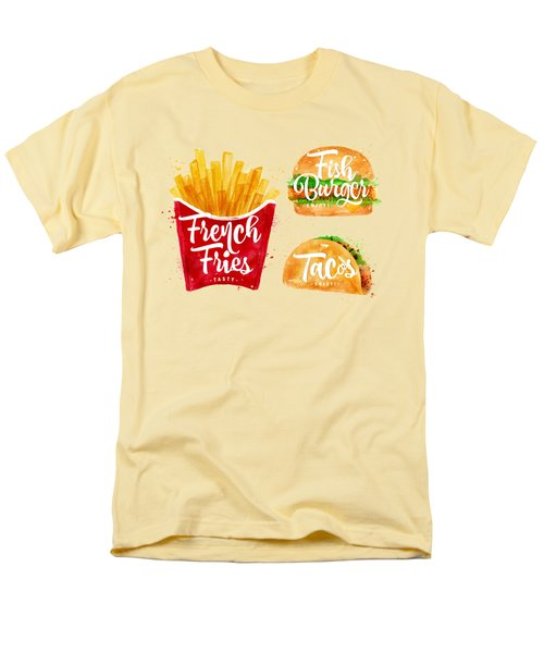 Vintage French Fries Men's T-Shirt  (Regular Fit) by Aloke Creative Store