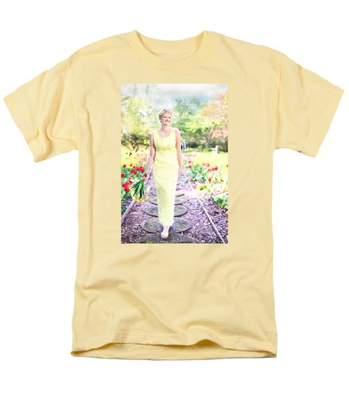 Vintage Val In Tulips Men's T-Shirt  (Regular Fit) by Jill Wellington