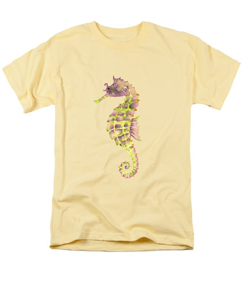 Violet Green Seahorse Men's T-Shirt  (Regular Fit)