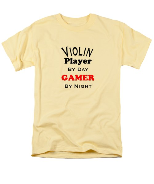 Violin Player By Day Gamer By Night 5632.02 Men's T-Shirt  (Regular Fit) by M K  Miller
