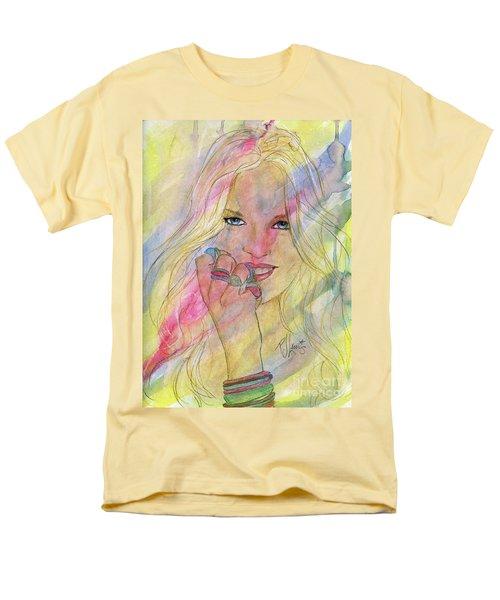 Water Colored Memories Men's T-Shirt  (Regular Fit) by P J Lewis