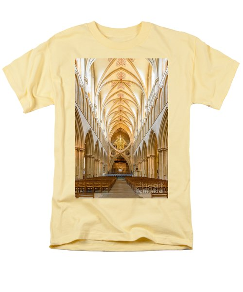 Wells Cathedral Nave Men's T-Shirt  (Regular Fit) by Colin Rayner