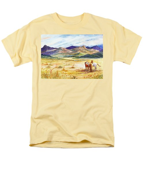 Men's T-Shirt  (Regular Fit) featuring the painting What Lies Beyond by Marilyn Smith