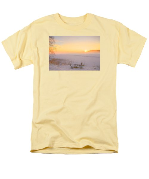 Men's T-Shirt  (Regular Fit) featuring the painting When Joy Fills The Heart by Rose-Maries Pictures
