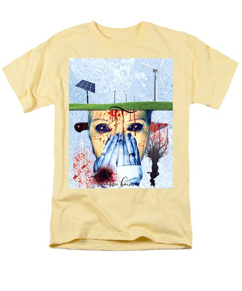 When They Take The Mind Men's T-Shirt  (Regular Fit) by Vennie Kocsis