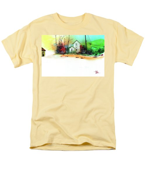White Houses Men's T-Shirt  (Regular Fit) by Anil Nene