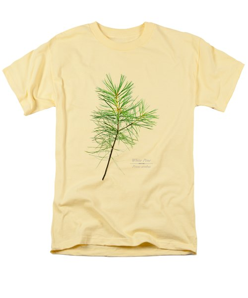 Men's T-Shirt  (Regular Fit) featuring the mixed media White Pine by Christina Rollo