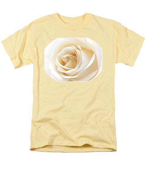 White Rose Heart Men's T-Shirt  (Regular Fit) by Gill Billington