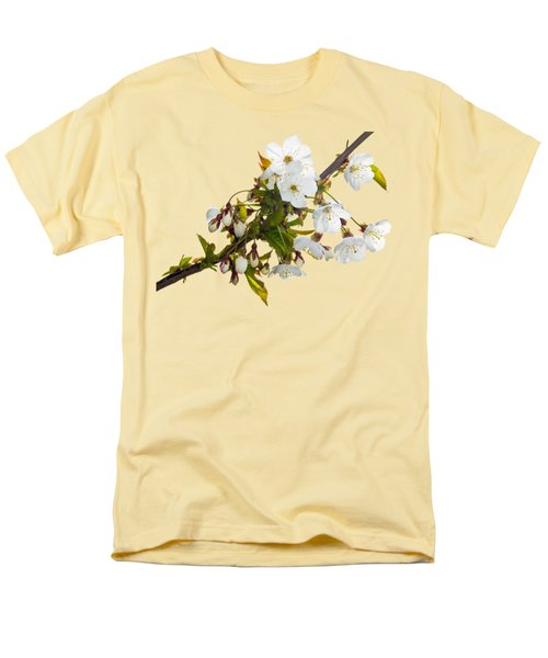 Men's T-Shirt  (Regular Fit) featuring the photograph Wild Cherry Blossom Cluster by Jane McIlroy