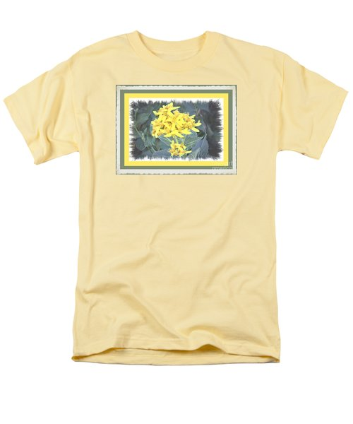 Wild Yellow Weed Men's T-Shirt  (Regular Fit) by Shirley Moravec