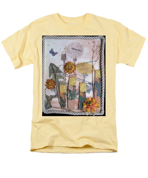 Men's T-Shirt  (Regular Fit) featuring the mixed media Wildflower Honey by Sandy McIntire