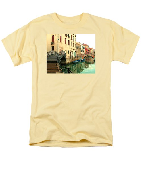 Winding Through The Watery Streets Of Venice Men's T-Shirt  (Regular Fit) by Barbie Corbett-Newmin
