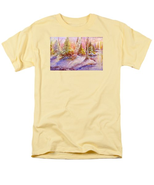 Winter Forest  Men's T-Shirt  (Regular Fit) by Patricia Schneider Mitchell