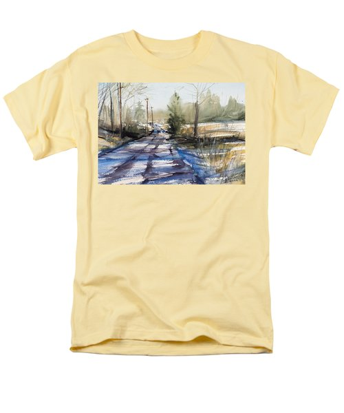 Winter Shadows  Men's T-Shirt  (Regular Fit) by Judith Levins