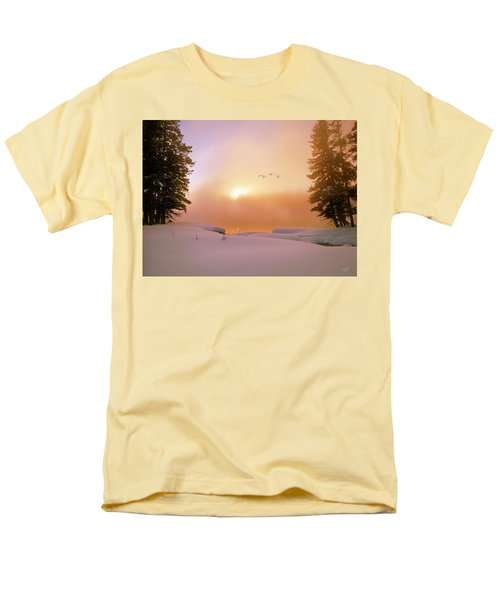 Men's T-Shirt  (Regular Fit) featuring the photograph Winter Swans by Leland D Howard