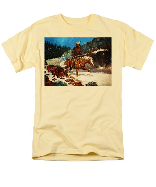 Men's T-Shirt  (Regular Fit) featuring the painting Winter Trek by Al Brown