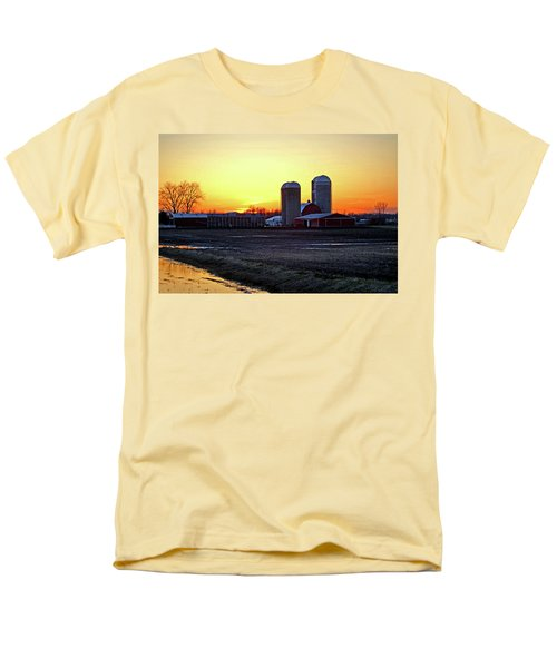 Men's T-Shirt  (Regular Fit) featuring the photograph Wisconsin At Sunset by Jean Haynes