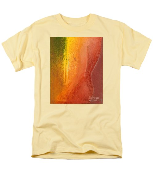 Men's T-Shirt  (Regular Fit) featuring the digital art Woman In Window Light by Haleh Mahbod