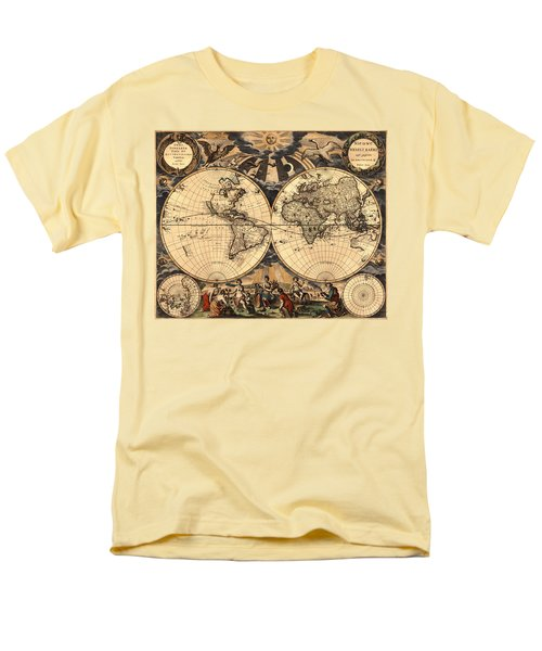 World Map 1666 Men's T-Shirt  (Regular Fit) by Andrew Fare