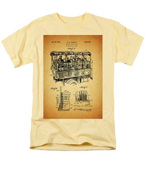 Ww2 Military Transport Vehicle Men's T-Shirt  (Regular Fit) by Dan Sproul