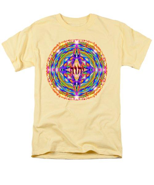 Yhwh Mandala 3 18 17 Men's T-Shirt  (Regular Fit) by Hidden Mountain