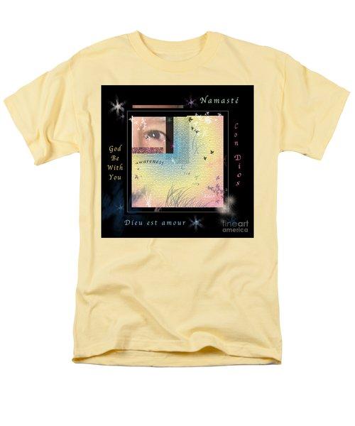 Yoga Creativity And Awareness Men's T-Shirt  (Regular Fit) by Felipe Adan Lerma