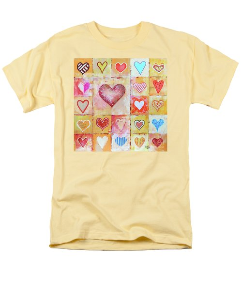 Men's T-Shirt  (Regular Fit) featuring the painting You Can Only See Clearly With Your Heart by Jutta Maria Pusl