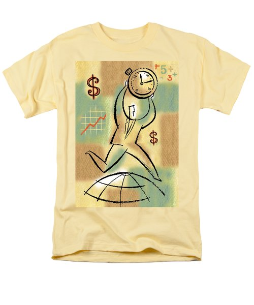Men's T-Shirt  (Regular Fit) featuring the painting Your Income by Leon Zernitsky