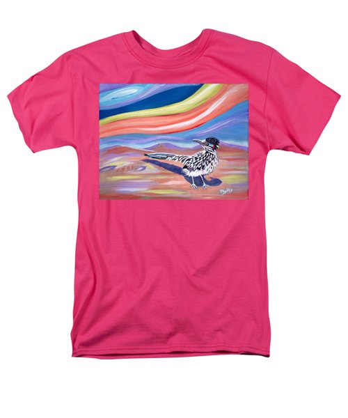 Men's T-Shirt  (Regular Fit) featuring the painting Posy 2 The Roadrunner by Phyllis Kaltenbach