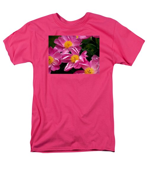 Pink Petals Men's T-Shirt  (Regular Fit) by Eunice Miller