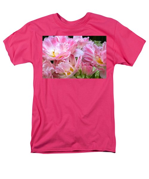 A Crowd Of Tulips Men's T-Shirt  (Regular Fit) by Byron Varvarigos