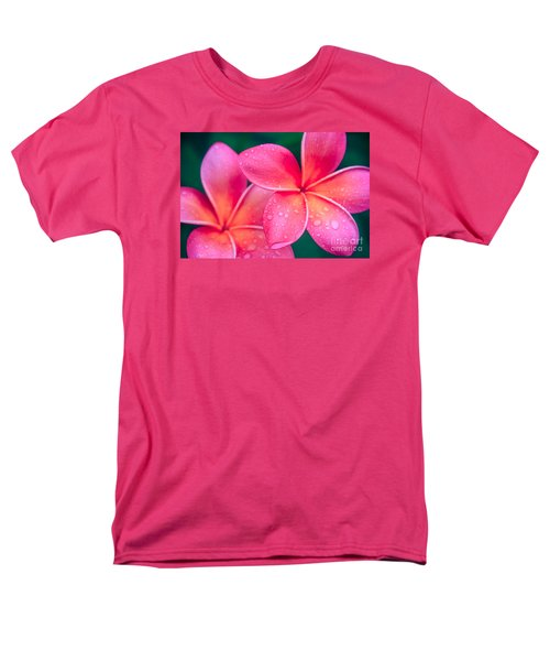 Aloha Hawaii Kalama O Nei Pink Tropical Plumeria Men's T-Shirt  (Regular Fit) by Sharon Mau