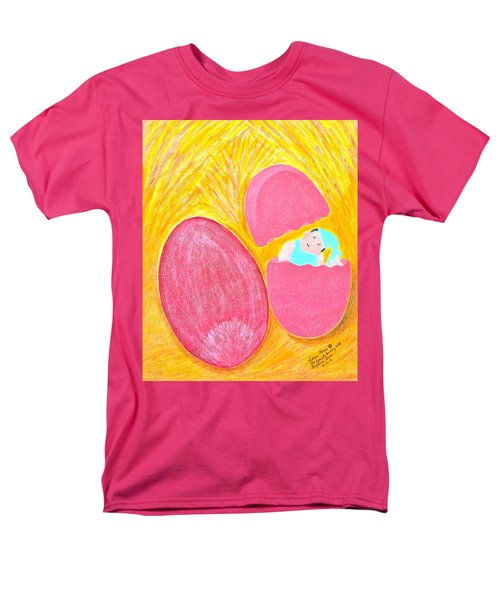 Men's T-Shirt  (Regular Fit) featuring the painting Baby Egg by Lorna Maza