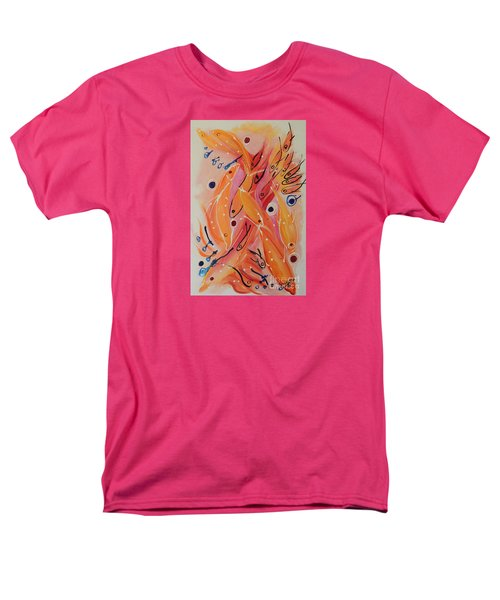 Men's T-Shirt  (Regular Fit) featuring the painting Dolphins And Fish by Lyn Olsen