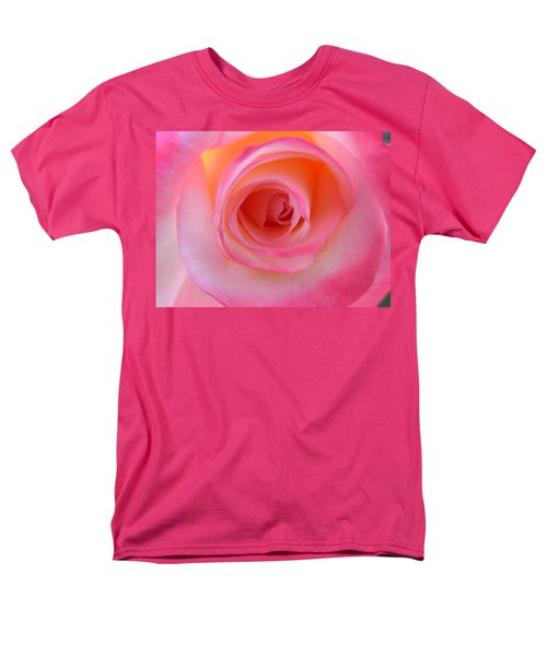 Men's T-Shirt  (Regular Fit) featuring the photograph Eye Of The Rose by Deb Halloran