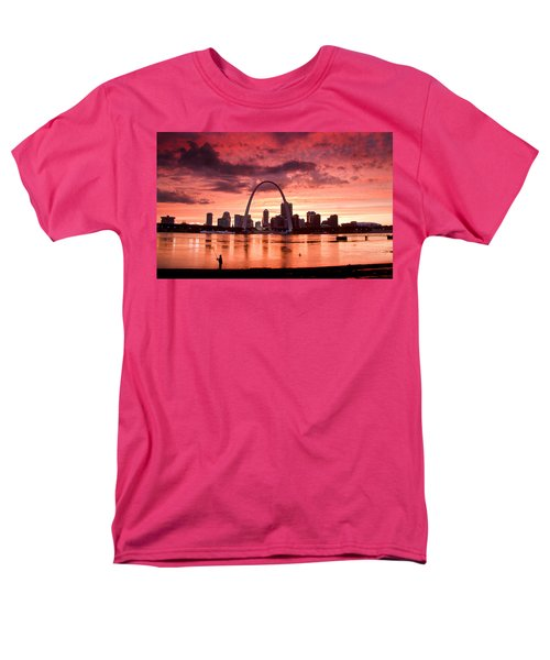 Fishing The Mississippi In St Louis Men's T-Shirt  (Regular Fit) by Garry McMichael