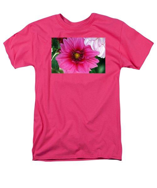 Fushia Pink Dahlia Men's T-Shirt  (Regular Fit) by Lehua Pekelo-Stearns