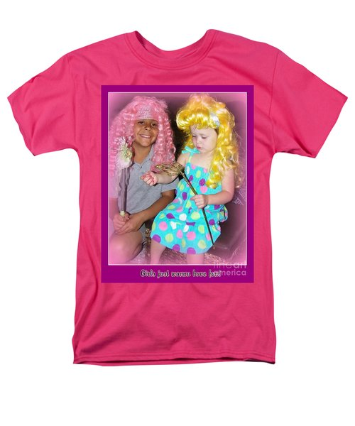 Men's T-Shirt  (Regular Fit) featuring the photograph Girls Just Wanna Have Fun by Bobbee Rickard