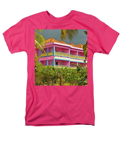 Hotel Jamaica Men's T-Shirt  (Regular Fit) by Linda Bianic