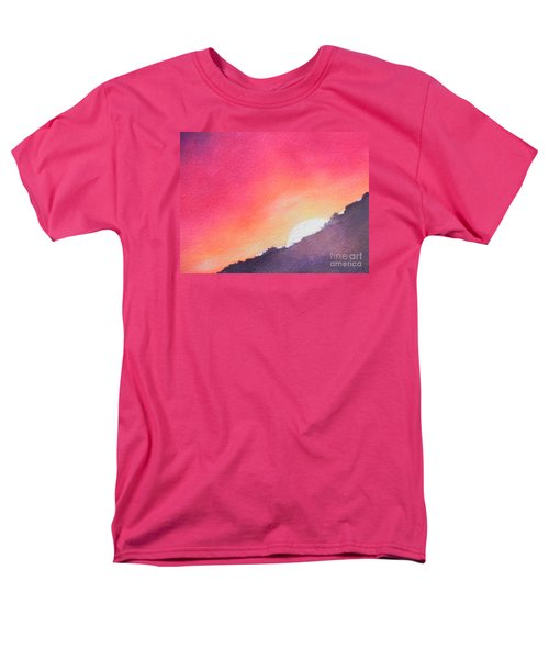 Men's T-Shirt  (Regular Fit) featuring the painting It's Not About The Climb  Rather What Awaits You On The Other Side by Chrisann Ellis