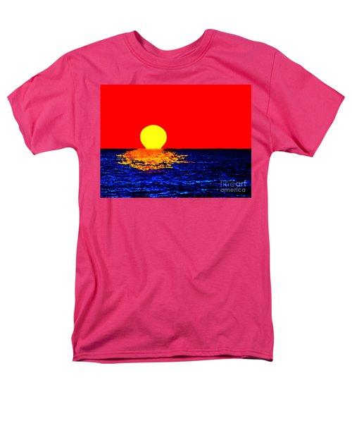 Kona Sunset Pop Art Men's T-Shirt  (Regular Fit) by David Lawson