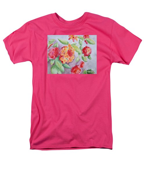 Men's T-Shirt  (Regular Fit) featuring the painting Lantana by Marilyn Zalatan