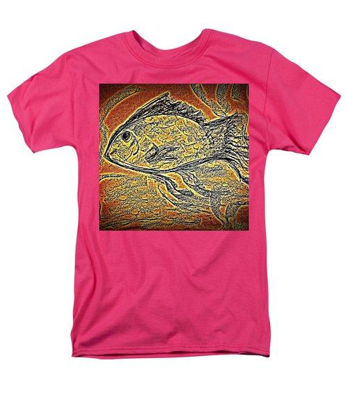Mosaic Goldfish In Charcoal Men's T-Shirt  (Regular Fit) by Antonia Citrino
